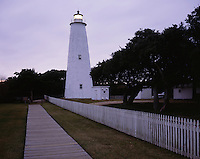 AA03274-01...NORTH CAROLINA - Ocracoke Lighthouse on Ocracoke Island on the Outer Banks.