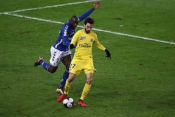 December 13, 2017 - Strasbourg, France - Paris Saint-Germain's Argentinian midfielder Javier Pastore kicks the ball during the french League Cup match, Round of 16, between Strasbourg and Paris Saint Germain on December 13, 2017 in Strasbourg, France. (Credit Image: © Elyxandro Cegarra/NurPhoto via ZUMA Press)