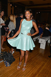 TOLULA ADEYEMI at the Gyunel Spring Summer 2015 fashion show as part of London Fashion week 2015 held at Victoria House, Bloomsbury Square, London on 12th September 2014.