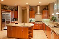 Modern kitchen in luxury manor house