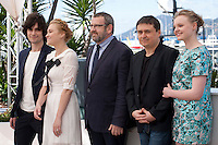 Rares Andrici, Malina Manovici, Adrian Titieni, Crisitan Mungiu and Maria Dragus at the gala screening for the film Graduation (Bacalaureat) at the 69th Cannes Film Festival, Thursday 19th May 2016, Cannes, France. Photography: Doreen Kennedy