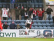 Aberdeen&rsquo;s Niall McGinn celebrates after opening the scoring - Dundee v Aberdeen, Ladbrokes Scottish Premiership at Dens Park<br /> <br />  - &copy; David Young - www.davidyoungphoto.co.uk - email: davidyoungphoto@gmail.com