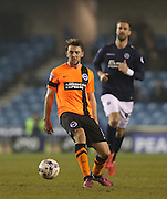 Dale Stephens, Brighton midfielder during the Sky Bet Championship match between Millwall and Brighton and Hove Albion at The Den, London, England on 17 March 2015.