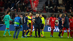 MUNICH, GERMANY - Wednesday, December 11, 2019: Tottenham Hotspur's manager José Mourinho shakes hands with Christian Eriksen after the final UEFA Champions League Group B match between FC Bayern München and Tottenham Hotspur FC at the Allianz Arena. Bayern Munich won 3-1. (Pic by David Rawcliffe/Propaganda)