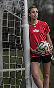 New Canaan High School girls soccer player Madison Starr working out at Dunning Field at New Canaan High School, New Canaan, CT on Friday, January 15, 2016.