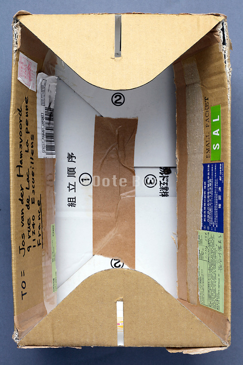 a carton box package used for mailing