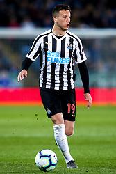 Javi Manquillo of Newcastle United - Mandatory by-line: Robbie Stephenson/JMP - 12/04/2019 - FOOTBALL - King Power Stadium - Leicester, England - Leicester City v Newcastle United - Premier League