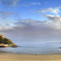 HIGHLY COMMENDED - Landscape photographer of the year<br /> <br /> Sailing boats, St Michaels Mount, Marazion, Cornwall.