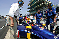 Eddie Cheever and Patrick Carpentier at the Indianapolis Motor Speedway, Indianapolis 500, May 29, 2005