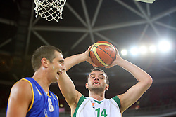 Mirza Begic of Slovenia at friendly match between Slovenia and Croatia for Adecco Cup 2011 as part of exhibition games before European Championship Lithuania on August 9, 2011, in SRC Stozice, Ljubljana, Slovenia. (Photo by Urban Urbanc / Sportida)
