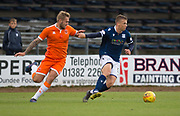 9th July 2019, Dens Park, Dundee, Scotland; Pre-season football friendly, Dundee versus Blackpool; Andrew Nelson of Dundee and Nick Anderson of Blackpool
