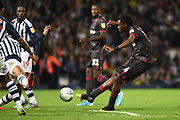 Reading midfielder (on loan from Liverpool) Ovie Ejaria (14)  scores a goal from open play 0-1 during the EFL Sky Bet Championship match between West Bromwich Albion and Reading at The Hawthorns, West Bromwich, England on 21 August 2019.