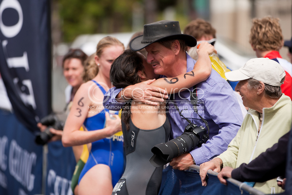 Tamsyn Moana?Veale(AUS).Elite Women.Australian Elite Sprint Distance Championships.2011 Geelong Multi-Sport Festival.Eastern Beach, Geelong, Victoria, Australia.20/02/11.Photo By Lucas Wroe