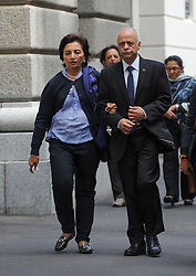 © Licensed to London News Pictures. 08/10/14. CAPE TOWN, SOUTH AFRICA -   Snila and Prakash Dewani, parents of Shrien Dewani, during Day 3 of the Shrien Dewani trial at the Cape High Court before Judge Jeanette Traverso. Dewani is caused of hiring hit men to murder his wife, Anni. Anni Ninna Dewani (née Hindocha; 12 March 1982 – 13 November 2010) was a Swedish woman who, while on her honeymoon in South Africa, was kidnapped and then murdered in Gugulethu township near Cape Town on 13 November 2010 . Photo credit : Roger Sedres/LNP
