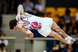 November 2, 2018 - Doha, Qatar - Artur Dalaloyan of  Russia   during  Floor for Men at the Aspire Dome in Doha, Qatar, Artistic FIG Gymnastics World Championships on 2 of November 2018. (Credit Image: © Ulrik Pedersen/NurPhoto via ZUMA Press)
