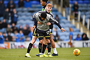 Alfie Egan (28) of AFC Wimbledon and Andy Barcham (17) of AFC Wimbledon warming up before the EFL Sky Bet League 1 match between Portsmouth and AFC Wimbledon at Fratton Park, Portsmouth, England on 26 December 2017. Photo by Graham Hunt.