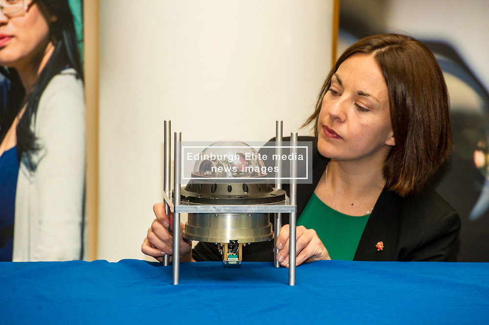 Pictured: Kezia Dugdale<br /> Scottish Labour leader Kezia Dugdale, Shadow Economy Secretary Jackie Baillie and Shadow Economy minister Richard Leonard visited Leonardo Airborne and Space Systems today to launch Scottish Labour's industrial strategy. <br />  <br /> Ger Harley   EEm 6 July  2017