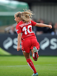 Olivia Fergusson of Bristol City Women wheels away after scoring against Durham Ladies - Mandatory by-line: Paul Knight/JMP - 24/09/2016 - FOOTBALL - Stoke Gifford Stadium - Bristol, England - Bristol City Women v Durham Ladies - FA Women's Super League 2