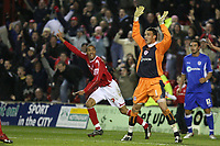 Photo: Pete Lorence.<br />Nottingham Forest v Millwall FC. Coca Cola League 1. 25/11/2006.<br />James Perch celebrates taking the score to 2-1.