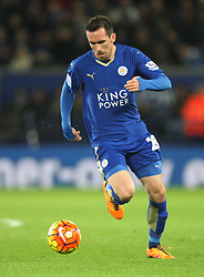 Christian Fuchs of Leicester City in action - Mandatory byline: Jack Phillips/JMP - 02/02/2016 - FOOTBALL - King Power Stadium - Leicester, England - Leicester City v Liverpool - Barclays Premier League