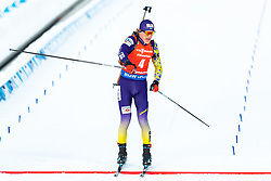 March 10, 2019 - –Stersund, Sweden - 190310 Dmytro Pidruchnyi of Ukraine celebrates after the Men's 12,5 km Pursuit during the IBU World Championships Biathlon on March 10, 2019 in Östersund. 10, 2019 in Östersund..Photo: Johan Axelsson / BILDBYRÃ…N / Cop 245 (Credit Image: © Johan Axelsson/Bildbyran via ZUMA Press)