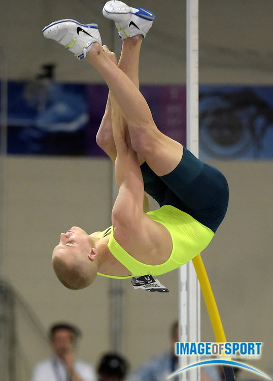 Feb 28, 2015; Boston, MA, USA; Sam Kendricks wins the pole vault at 18-10 3/4 (5.76m) in the 2015 USA Indoor Championships at Reggie Lewis Center.
