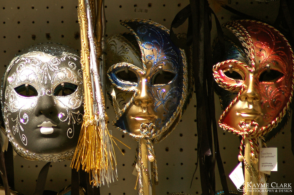 Venetian Masks - St. Mark's Square, Venice, Veneto, Italy, Europe