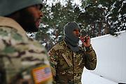 Zagan 18.01.2017. Zolnierze amerykanski 3 brygady ABCT Fortu Carson na poligonie w Karlikach. Fot: Krystian Maj/FORUM