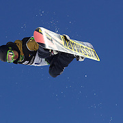 Kosuke Hosokawa, Japan, in action during the Men's Half Pipe Finals in the LG Snowboard FIS World Cup, during the Winter Games at Cardrona, Wanaka, New Zealand, 28th August 2011. Photo Tim Clayton...