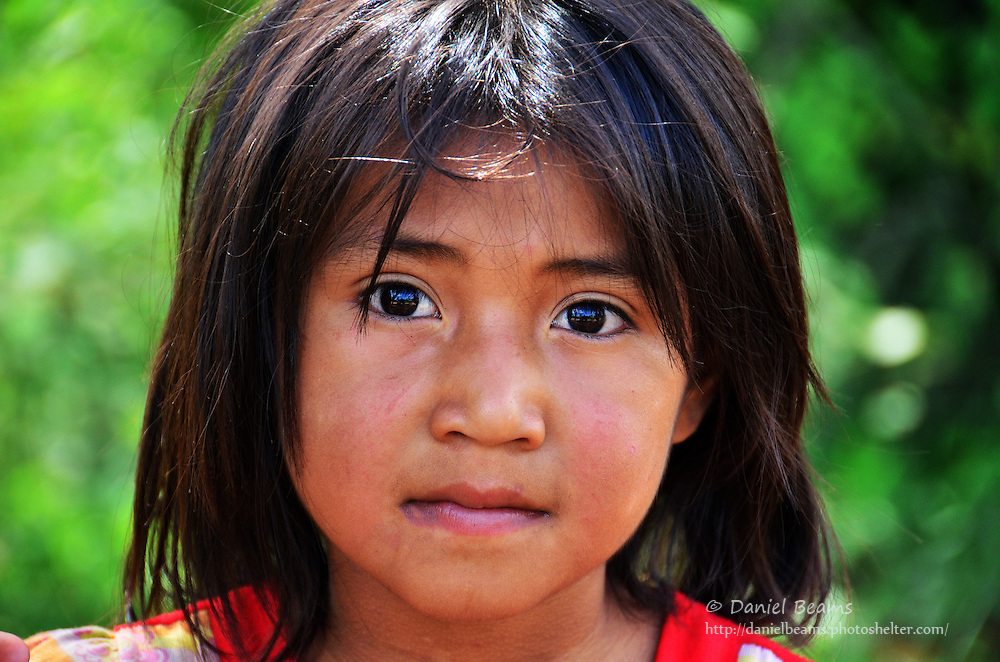 Guarani girl in Pirirenda, Gutierrez, Santa Cruz, Bolivia