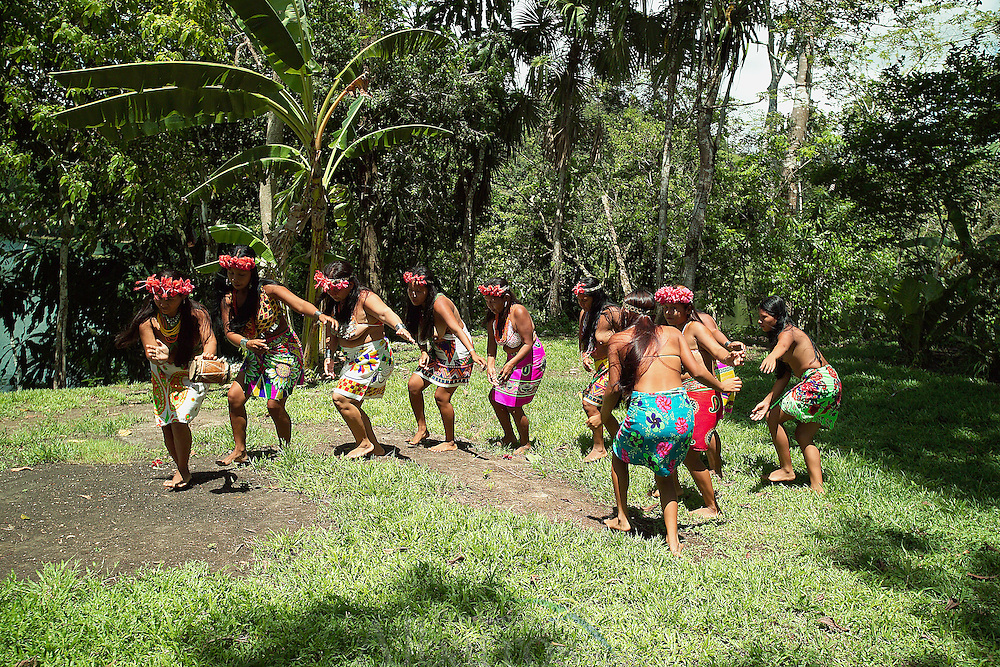 Ember&aacute;-Wounaan es una comarca ind&iacute;gena de Panam&aacute;. Fue creada en 1983 a partir de dos enclaves ubicados en la provincia de Dari&eacute;n, espec&iacute;ficamente de los distritos de Chepigana y Pinogana. <br /> <br /> Su capital es Uni&oacute;n Choc&oacute;. Su extensi&oacute;n abarca 4383,5 km? y posee una poblaci&oacute;n de 9.544 habitantes (2010), la mayor&iacute;a de &eacute;stos pertenecen a las etnias ember&aacute; y wounaan, distribuidas en 40 comunidades.<br /> <br /> Los ember&aacute;s hablan el ember&aacute; y los wounaan el Wounaan meu. Ember&aacute; significa &quot;hombre bueno&quot; o &quot;buen amigo&quot;. En wounaan meu significa &quot; gente, personas o pueblo.<br /> <br /> Su vivienda La construyen sobre pilares (palafitas), para protegerlos de las inundaciones de los r&iacute;os(son muy resistentes). <br /> <br /> El techo es c&oacute;nico, se fabrica utilizando las hojas de la planta conocida como guagara, aunque tambi&eacute;n utilizan las hojas de la Palma Real, pero utilizan tambi&eacute;n otros estilos.<br /> Su actividad econ&oacute;mica es la agricultura es la principal actividad. Cultivan sobre todo pl&aacute;tano, producto con el cual comercian; siembran ma&iacute;z, arroz, tub&eacute;rculos, como &ntilde;ame, yuca y otros. <br /> <br /> Otras ocupaciones son: la pesca, la caza, la cr&iacute;a de animales de corral, y la recolecci&oacute;n de plantas. Recogen todo lo que se produce desde la tierra. Les gusta la arquitectura.<br /> <br /> &copy;Alejandro Balaguer/Fundaci&oacute;n Albatros Media.
