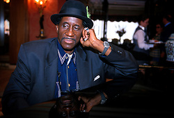 IRELAND DUBLIN JUL99 - Legendary R&B shouter Screamin' Jay Hawkins takes a rest at the piano during a press conference prior to the start of the Dublin Jazz Festival. ..jre/Photo by Jiri Rezac..© Jiri Rezac 1999..Tel:   +44 (0) 7050 110 417..Email: jiri@jirirezac.com.Web:   www.jirirezac.com