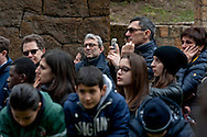 Commemoration for the 72th anniversary of the massacre  Fosse Ardeatine, made in Rome by the occupation troops of Nazi Germany, the  March 24, 1944, were killed, 335 civilians and Italian soldiers. Pictured: The candidate for mayor of Rome Roberto Giachetti (Democratic Party), in the area reserved for the public. Rome Italy. March 23, 2016.