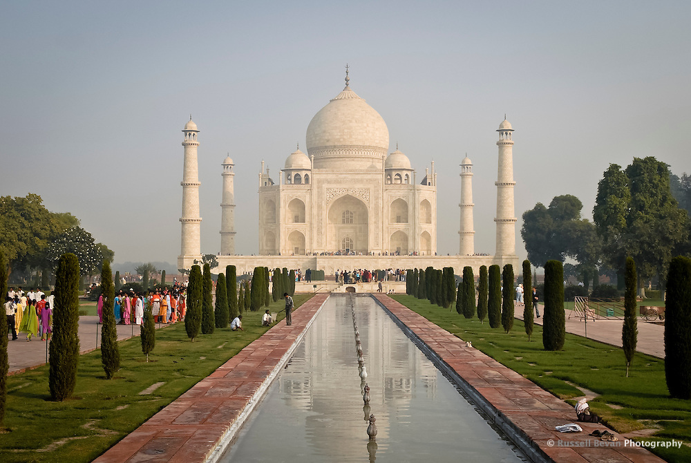 Morning at the Taj Mahal in Agra, Uttar Pradesh, India