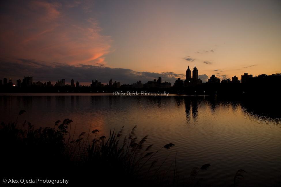 Central Park at sunset, New York