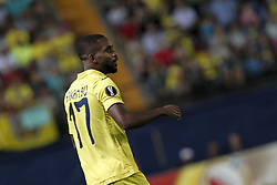 September 14, 2017 - Villarreal, Spain - 17 Cedric Bakambu of Villarreal CF   during the UEFA Europa League Group A football match between Villarreal CF vs FC Astana  at La Ceramica stadium in Villarreal  on September 14, 2017. (Credit Image: © Jose Miguel Fernandez/NurPhoto via ZUMA Press)