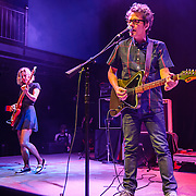 Britta Phillips and Dean Wareham of Luna perform at the 9:30 Club on their reunion tour.
