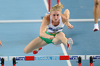 ATHLETICS - WORLD CHAMPIONSHIPS INDOOR 2012 - ISTANBUL (TUR) 09 to 11/03/2012 - PHOTO : STEPHANE KEMPINAIRE / KMSP / DPPI - <br /> 60 M HURDLES - WOMEN - SALLY PEARSON (AUS)