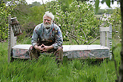 23/4/2005.Arthur Maddison pictured sitting on a bed he has in his orchard in Cappaquin county Waterford. Arthur likes to sometimes sleep on the bed and watch the night sky..Picture Dylan Vaughan
