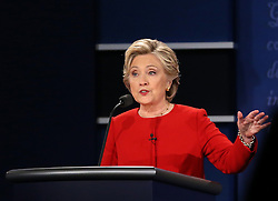 HEMPSTEAD, Sept. 27, 2016 (Xinhua) -- Democrat Hillary Clinton attends the first presidential debate in Hempstead of New York, the United States, Sept. 26, 2016. Hillary Clinton and Republican Donald Trump on Monday held their first presidential debate in Hempstead. (Xinhua/Qin Lang) (zw) (Credit Image: © Qin Lang/Xinhua via ZUMA Wire)