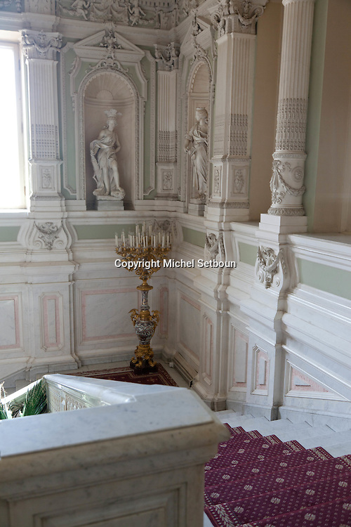 Russia, St Petersburg, interiors of Yussoupov palace museum /// interieur du palais musee Youssoupov. Saint Petersbourg. Russie
