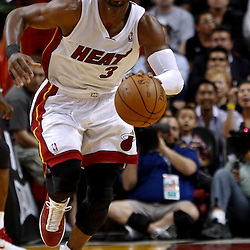 March 3, 2011; Miami, FL, USA; Miami Heat shooting guard Dwyane Wade (3) during a game against the Orlando Magic at the American Airlines Arena. The Magic defeated the Heat 99-96.    Mandatory Credit: Derick E. Hingle