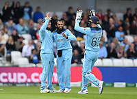 Cricket - 2019 ICC Cricket World Cup - Group Stage: England vs. Sri Lanka<br /> <br /> England's Adil Rashid celebrates taking the wicket of Sri Lanka's Kusal Mendis caught by Eoin Morgan for 46, at Headingley, Leeds<br /> <br /> COLORSPORT/ASHLEY WESTERN