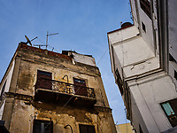 CASABLANCA, MOROCCO - CIRCA APRIL 2017: Typical construction around the  Medina in  Casablanca