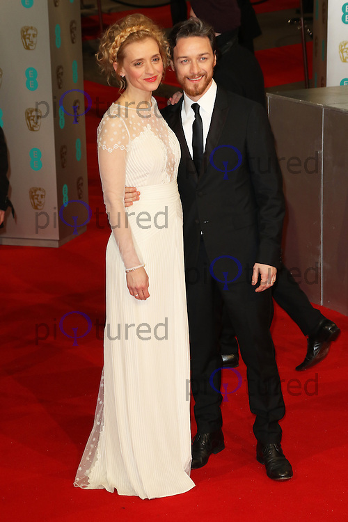 Anne-Marie Duff, James McAvoy, EE British Academy Film Awards (BAFTAs), Royal Opera House Covent Garden, London UK, 08 February 2015, Photo by Richard Goldschmidt