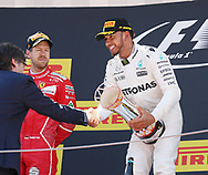 Lewis Hamilton of Mercedes AMG Petronas takes first place in the Spanish Formula One Grand Prix at Circuit de Catalunya, Barcelona<br /> Picture by EXPA Pictures/Focus Images Ltd 07814482222<br /> 14/05/2017<br /> *** UK &amp; IRELAND ONLY ***<br /> <br /> EXPA-EIB-170514-0113.jpg
