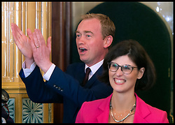 June 9, 2017 - London, London, United Kingdom - Image ©Licensed to i-Images Picture Agency. 09/06/2017. London, United Kingdom. ..Tim Farron arrives with newly elected MP Layla Moran who won the Oxford West and Abingdon seat in yesterday's election...Leader of the Liberal Democrats Tim Farron holds a press conference at the National Liberal Club in Whitehall, London, UK, following the results of the general election. ..Picture by Ben Stevens / i-Images (Credit Image: © Ben Stevens/i-Images via ZUMA Press)