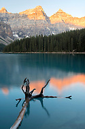 North America, Canada, Canadian,Alberta, Rocky Mountains, Banff National Park, UNESCO, World Heritage, Moraine lake at sunrise