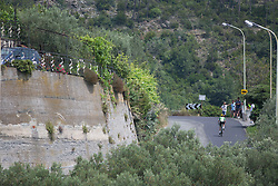 Krista Doebel-Hickok (USA) of Cylance Pro Cycling starts the second climb of the Giro Rosa 2016 - Stage 7. A 21.9 km individual time trial from Albisola to Varazze, Italy on July 8th 2016.