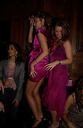 Camilla Al Fayad and Marietta Chandris dancing, Tatler magazine Little Black Book party, Tramp. Jermyn St. 10 November 2004. ONE TIME USE ONLY - DO NOT ARCHIVE  © Copyright Photograph by Dafydd Jones 66 Stockwell Park Rd. London SW9 0DA Tel 020 7733 0108 www.dafjones.com